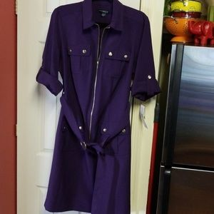 NWT Sharagano Pocketed Dress